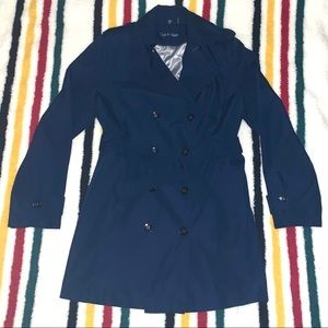 Navy Calvin Klein Trench Coat